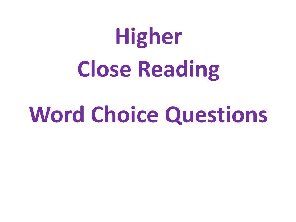 higher word