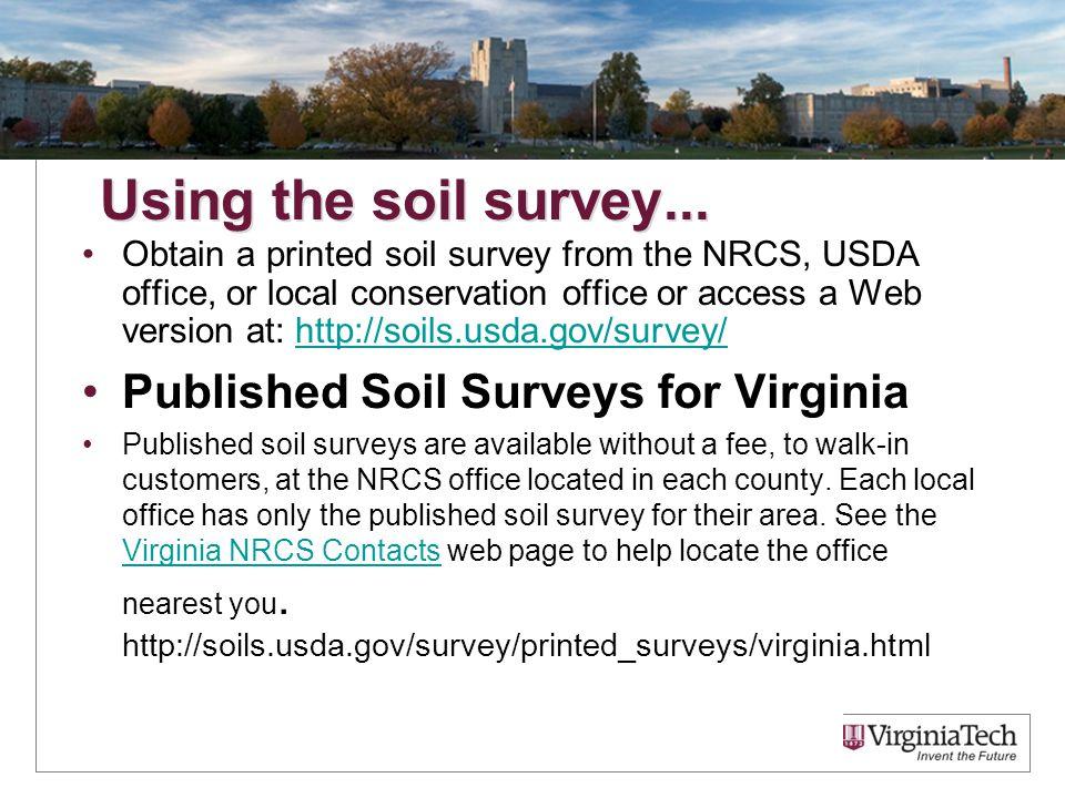 Soils and fertilizer master gardner presentation 25 for Soil web survey