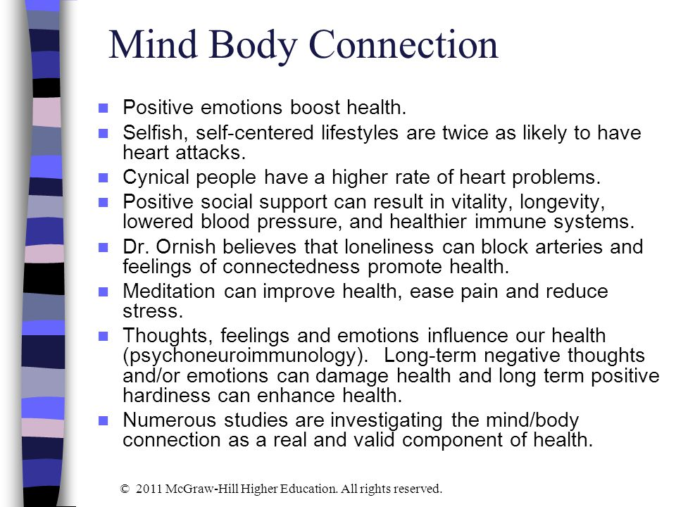 The mind body connection in learning essay