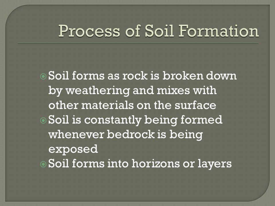 Soil ppt video online download for Explain the formation of soil