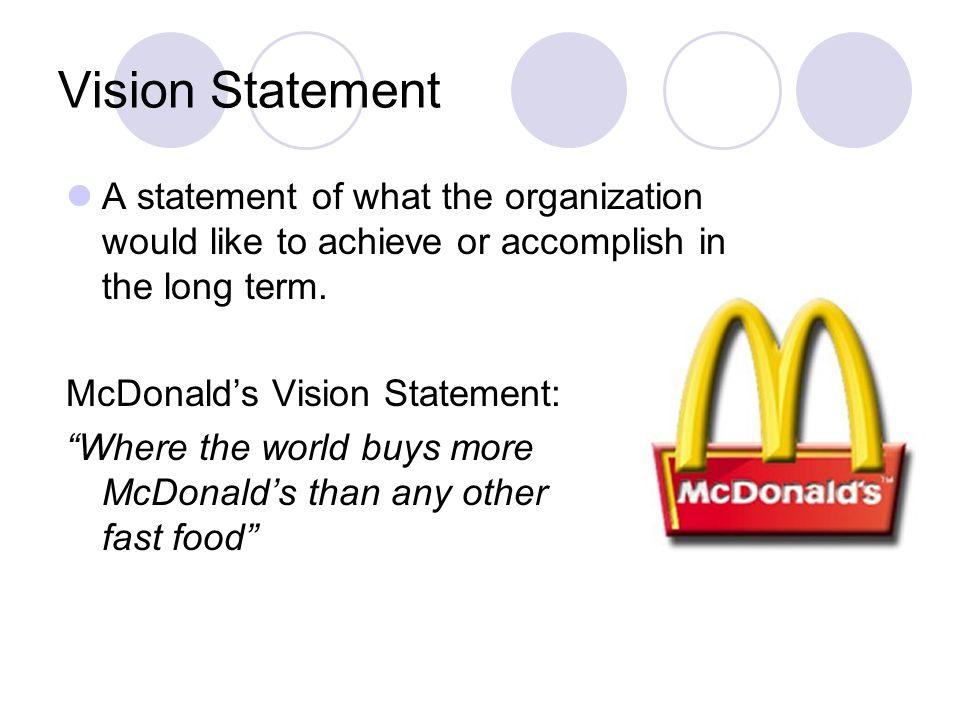 mcdonalds short term objective How to set and achieve smart goals with our goal setting  actions you can take that will help you achieve your overall objective  for short-term targets, your.
