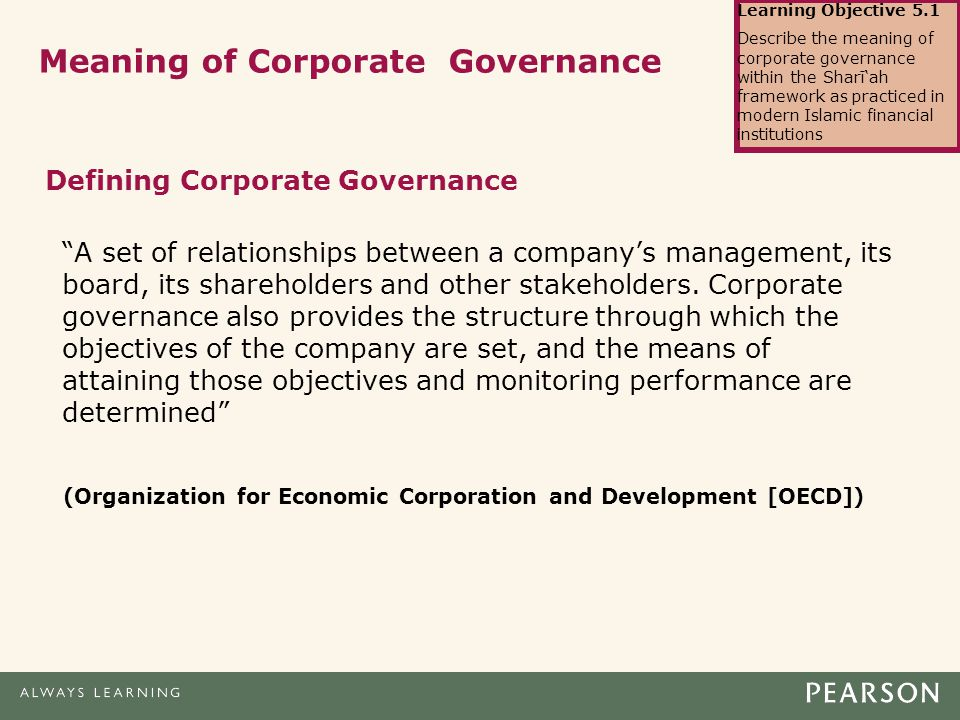 corporate governance of financial institutions Strong financial institutions corporate governance failures the recent financial crisis highlighted numerous issues  corporate governance and pay stated that.