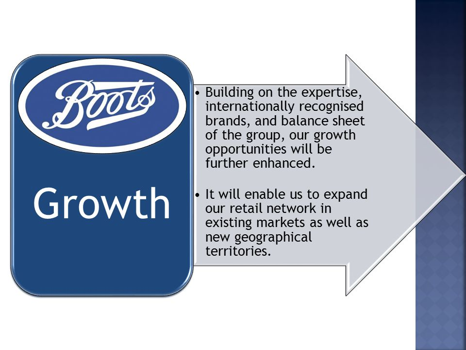 Building on the expertise, internationally recognised brands, and balance sheet of the group, our growth opportunities will be further enhanced.