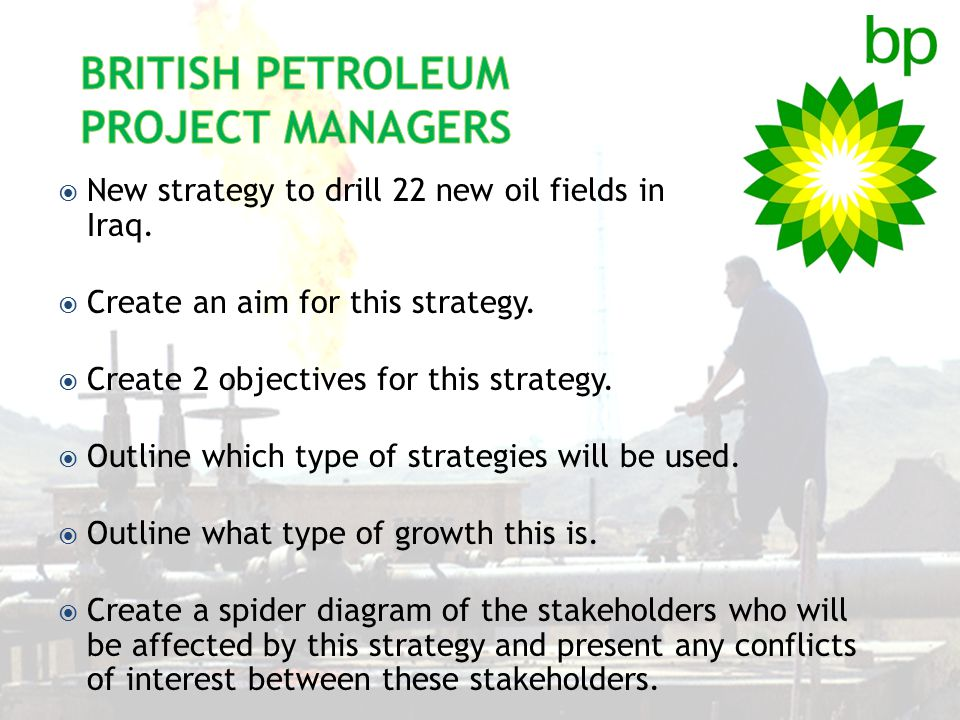 British Petroleum Project Managers