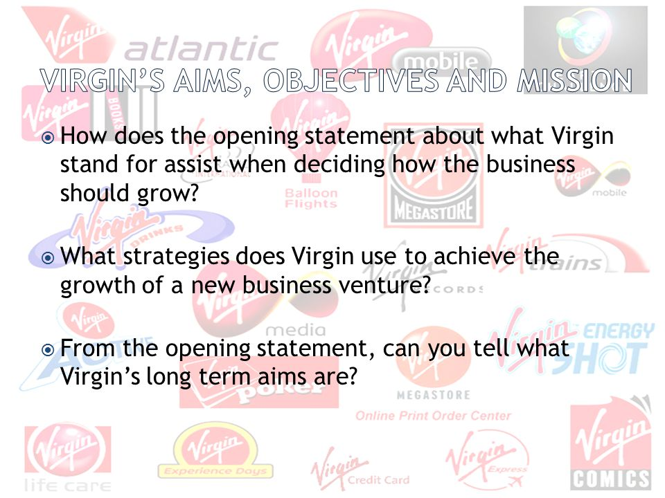 Virgin's Aims, objectives and Mission