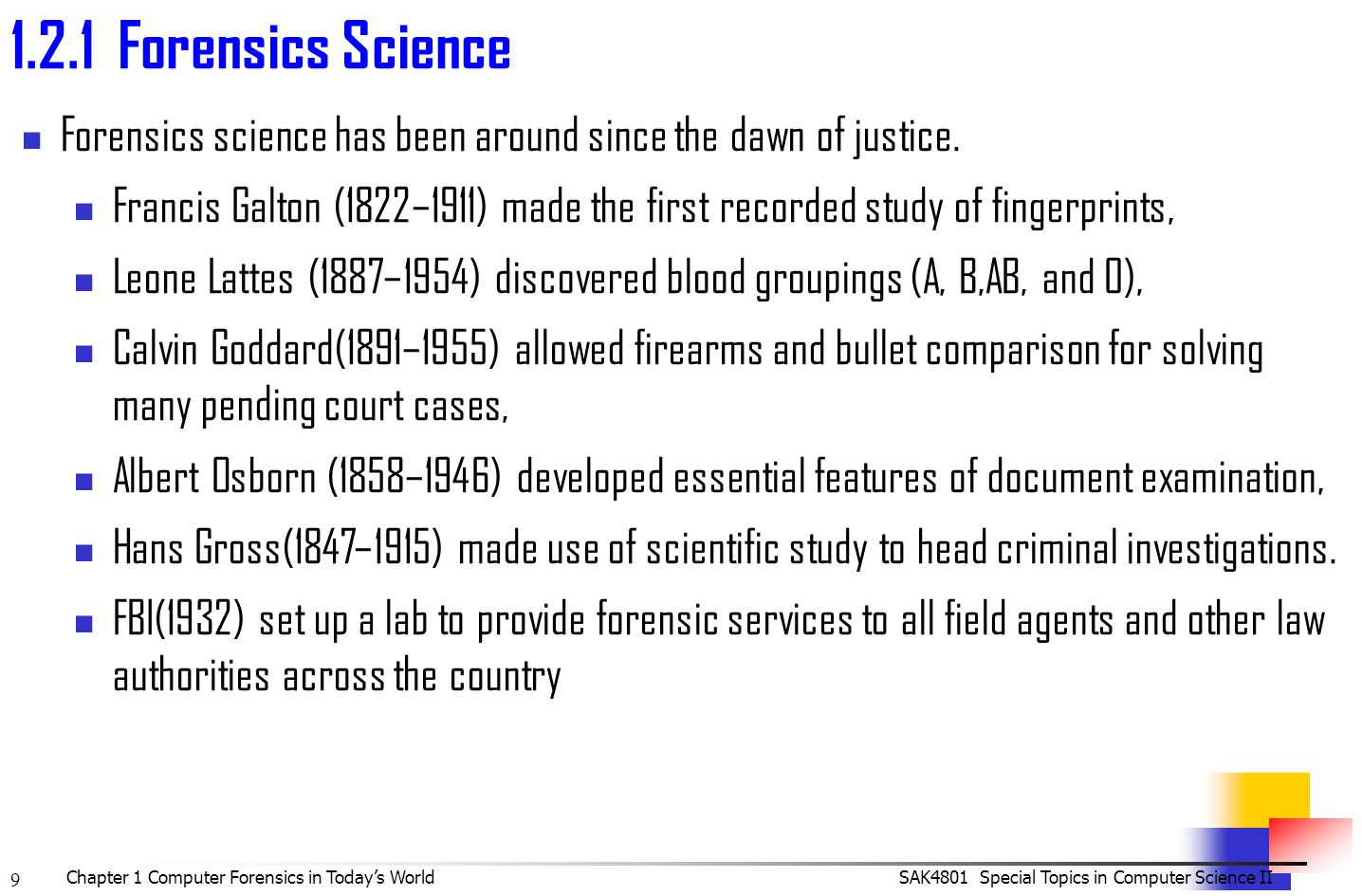fbi handbook of forensic science 1946
