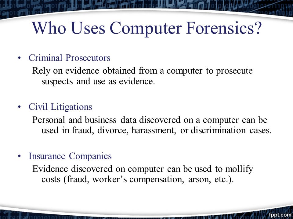 project computer forensics analysis The project also envisages imparting high quality computer forensics training to  the  the lab also facilitates in providing training on cyber forensic analysis and .
