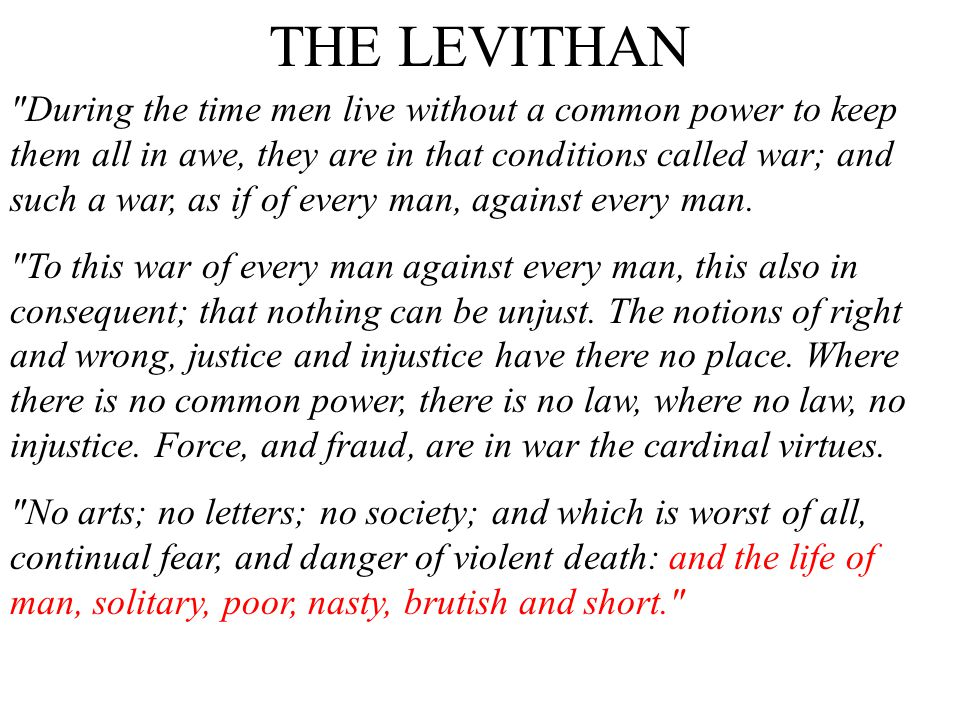 THE LEVITHAN