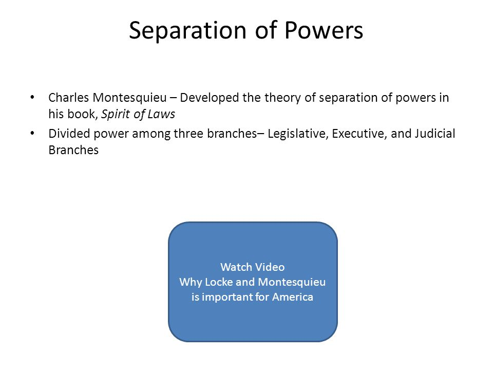 Why Locke and Montesquieu is important for America