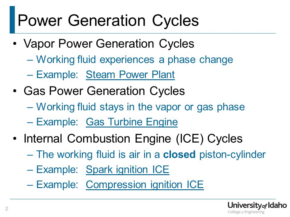 Power Generation Cycles