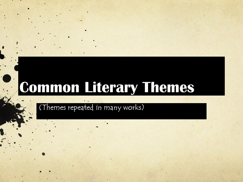 common themes in short stories A story, by its very nature, must have a theme, sometimes many major and minor themes, all throughout themes are the ideas book clubs, poets, playwrights, literature students, film enthusiasts, movie-makers, and creative writers mull over in-depth.