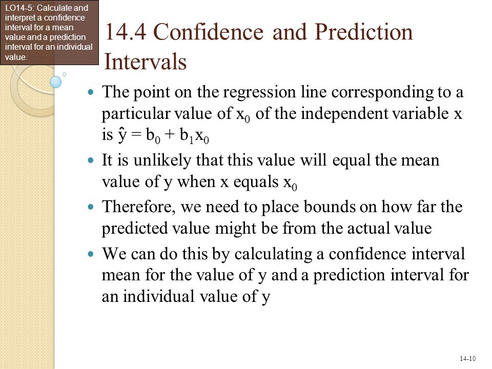 14.4 Confidence and Prediction Intervals