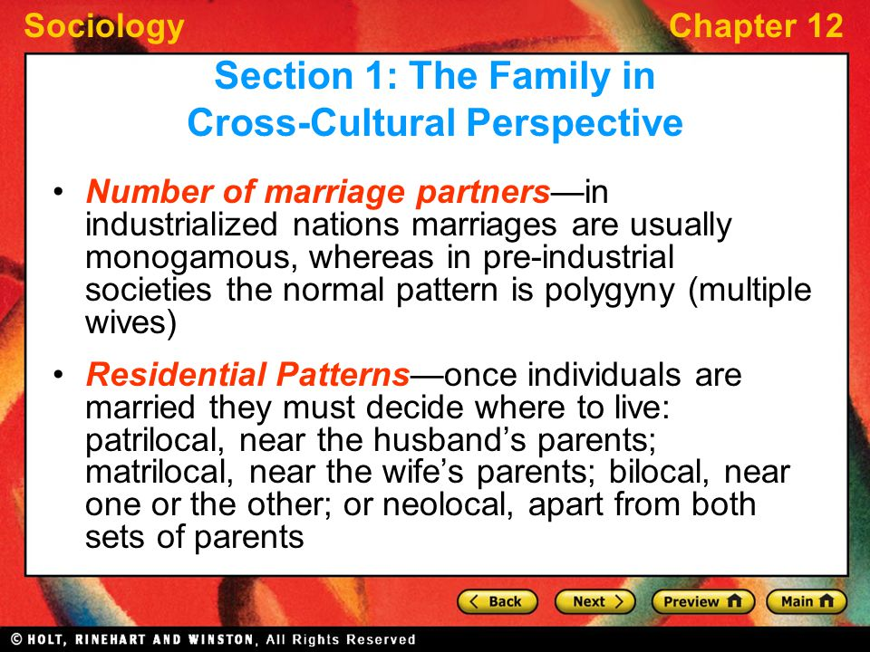 an overview of the cross cultural perspective of polygyny Cultural practices and hiv in south africa: a legal perspective  1 introduction   zeitzen mk polygamy: a cross-cultural analysis (berg publishers oxford.