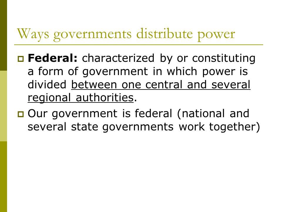federalism and confederalism