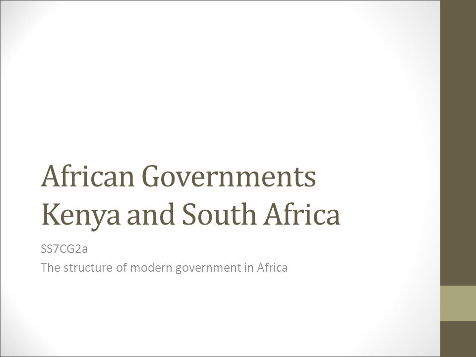 African Governments Kenya and South Africa