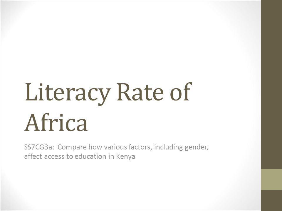 Literacy Rate of Africa