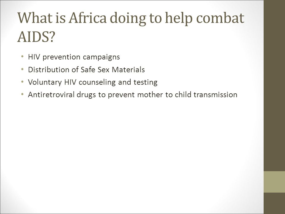 What is Africa doing to help combat AIDS