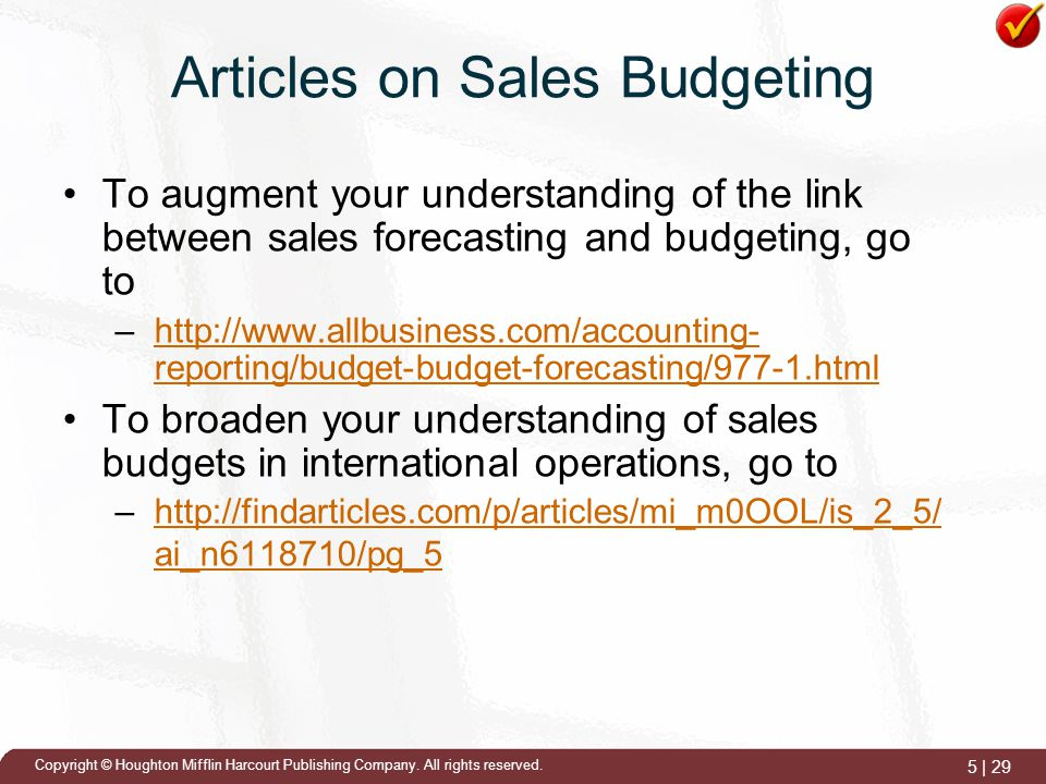 sales budgeting 2006-1-19  a detailed explanation of how to budget, types of budgeting, the benefits, and the critiques of the budgeting process.
