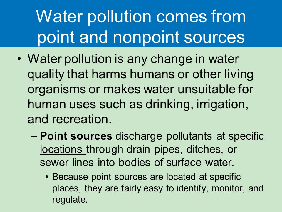 point and nonpoint sources of water pollution pdf
