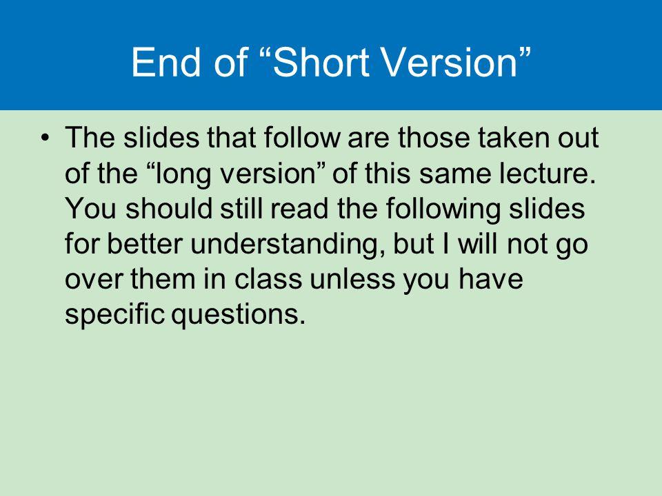 End of Short Version