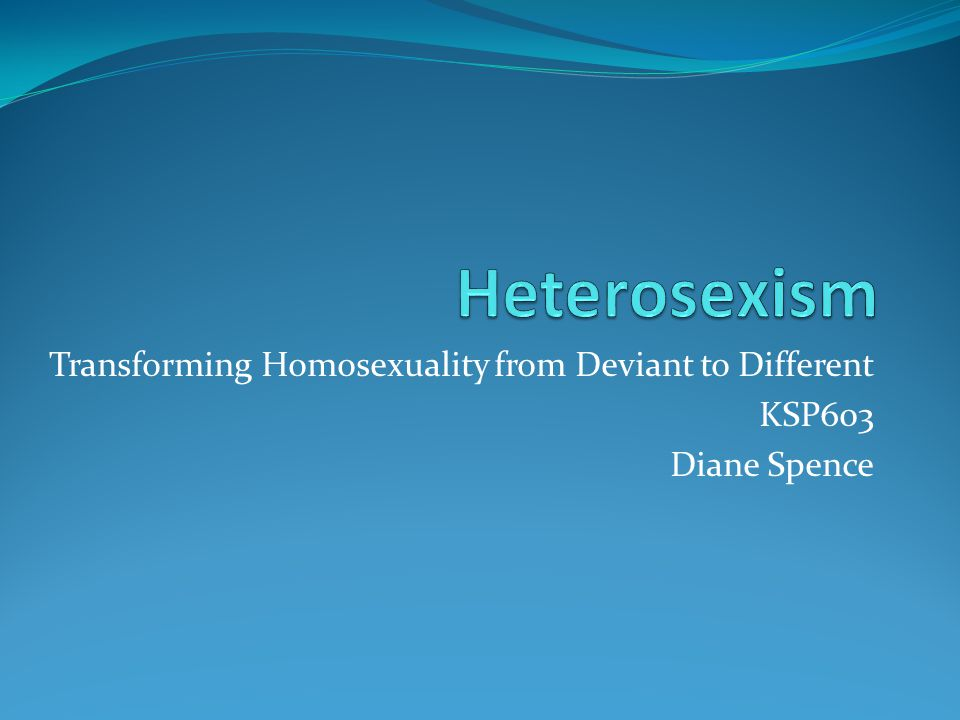 homosexuality as deviant