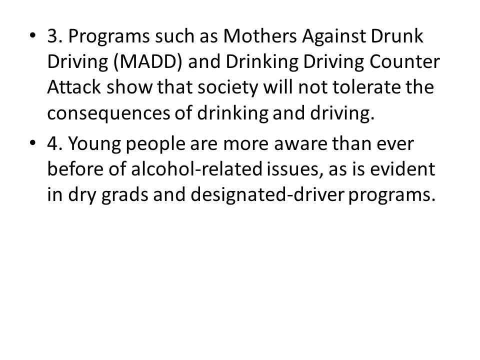 Drunk Driving As A Social Problem
