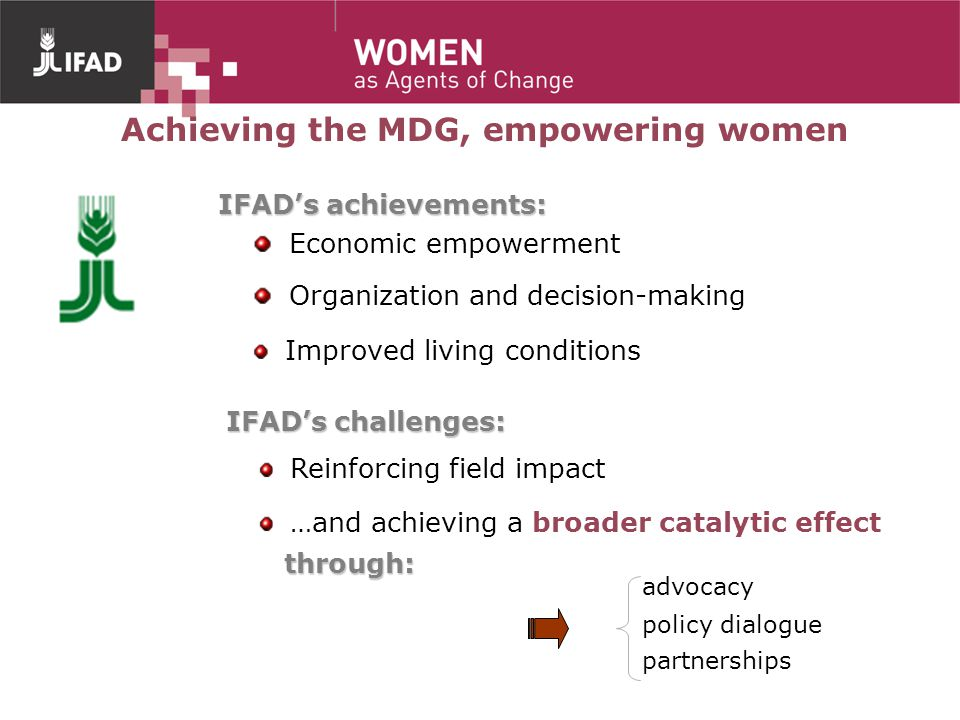 Achieving the MDG, empowering women