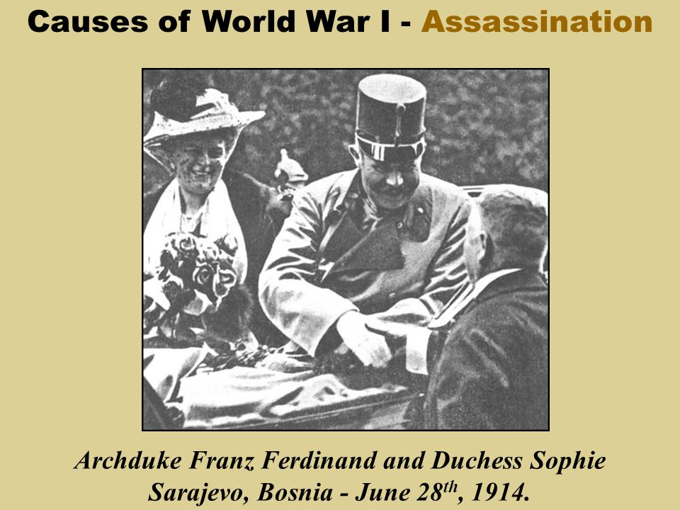 the cause of world war i The root causes of world war i include imperialism, nationalism, formation of alliances, militarism and the main cause was the assassination of archduke.