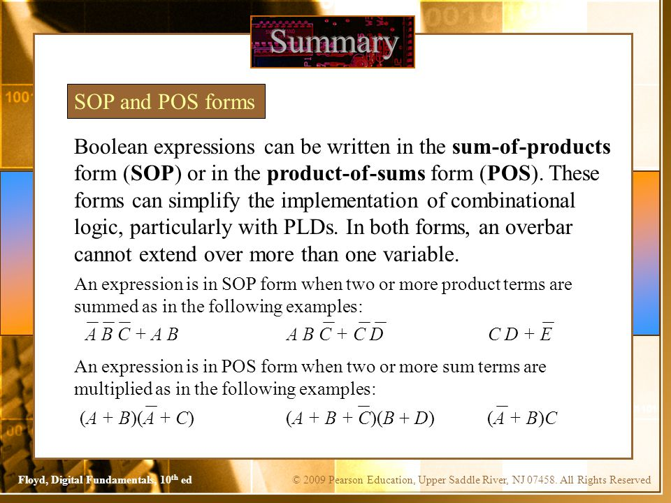 Summary SOP and POS forms