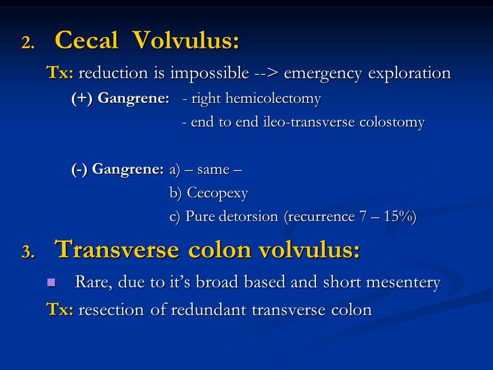 Transverse colon volvulus: