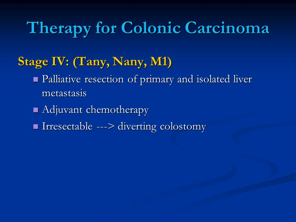 Therapy for Colonic Carcinoma