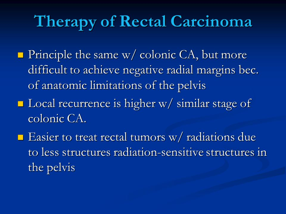 Therapy of Rectal Carcinoma