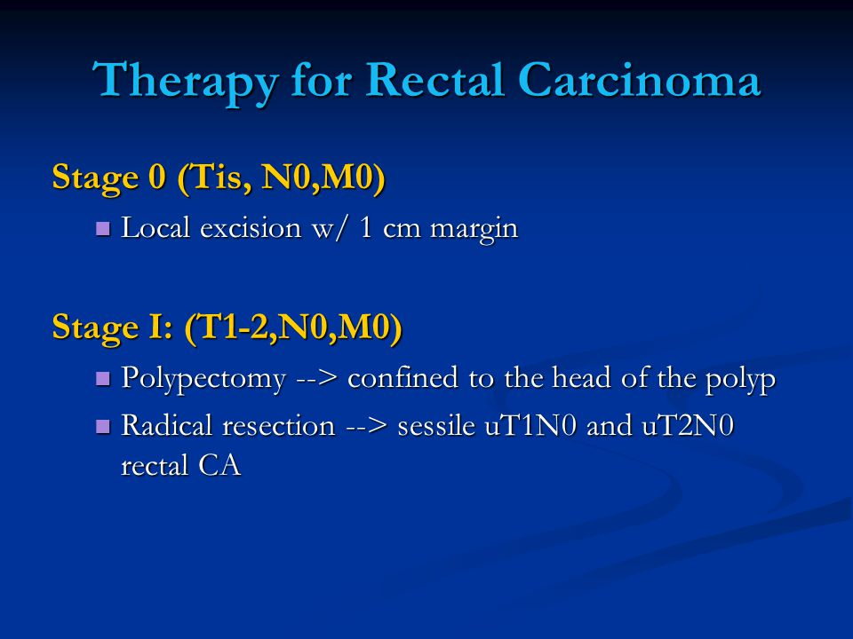 Therapy for Rectal Carcinoma