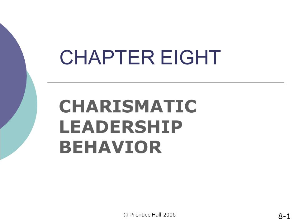 CHARISMATIC LEADERSHIP BEHAVIOR