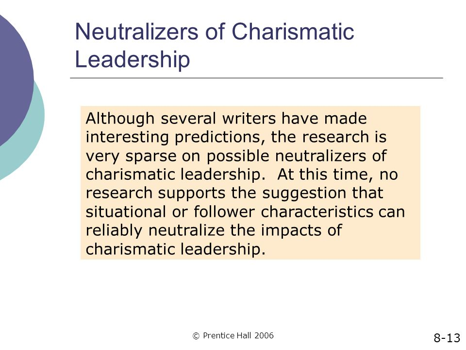 Neutralizers of Charismatic Leadership