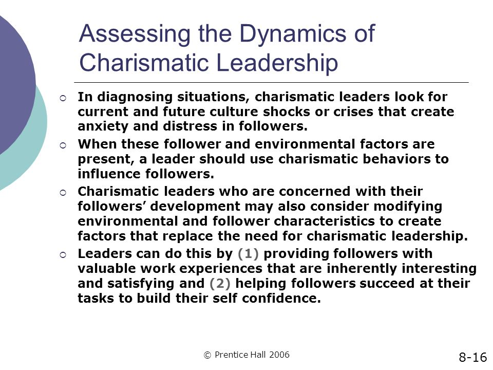 Assessing the Dynamics of Charismatic Leadership