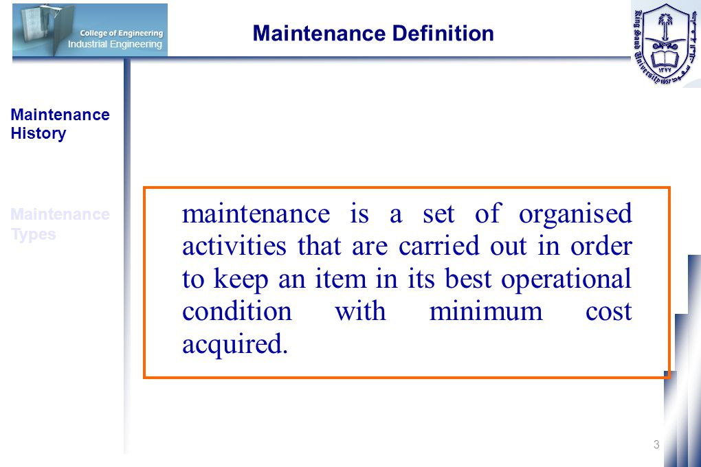 Maintenance Definition