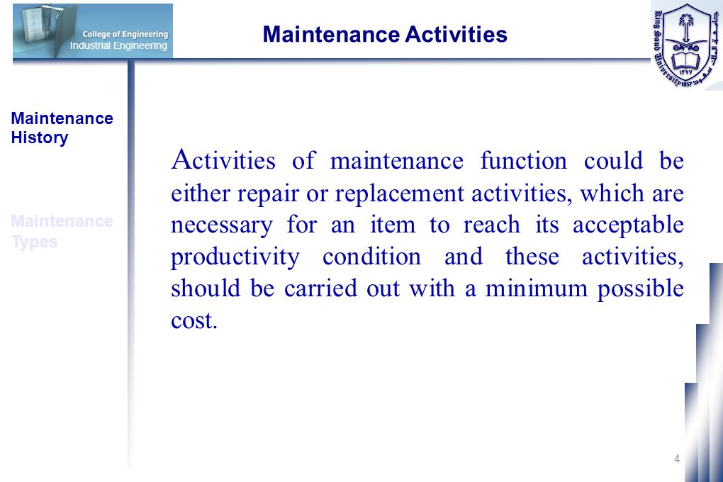 Maintenance Activities