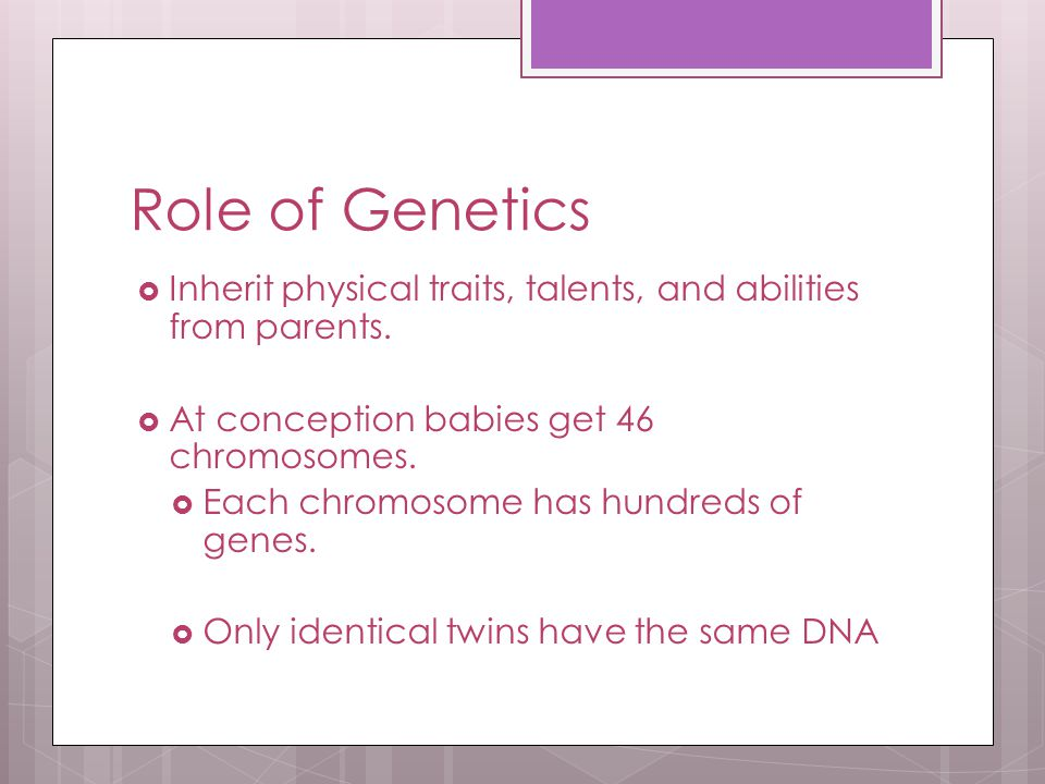 Genetics & Development