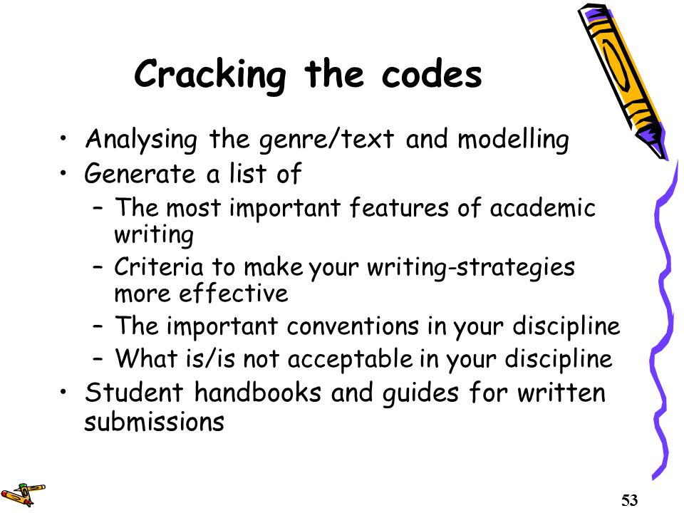the conventions of academic writing Key words: academic writing approaches, pre-process approaches, process   treatment of grammar and the conventions for writing texts as universal when in.