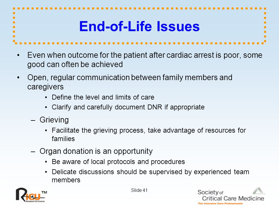 end of life issues do not resuscitate order essay Dnr between life and death research paper with protocols to adequately deal with end-of-life issues unilateral do not resuscitate orders.