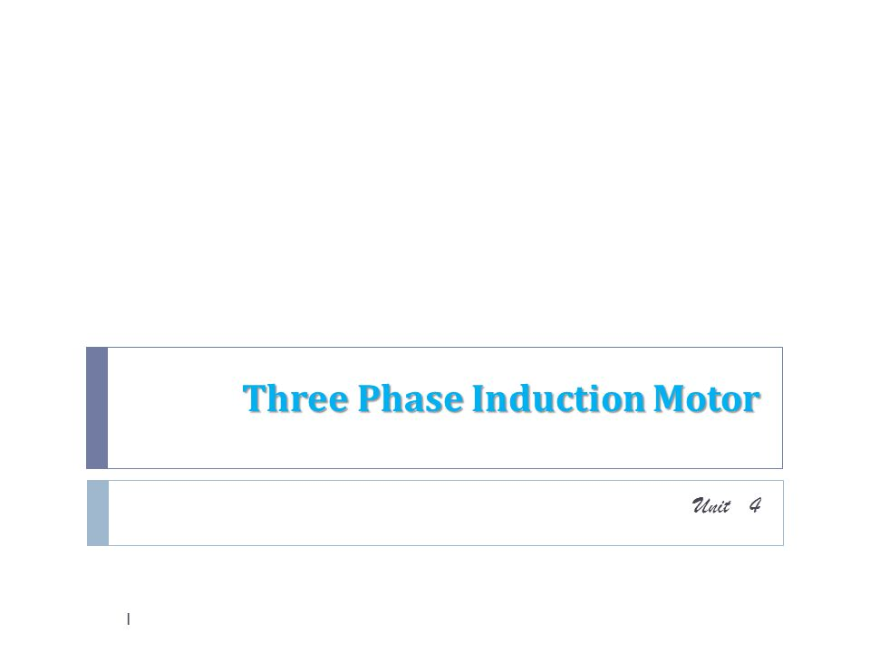 Three Phase Induction Motor Ppt Video Online Download