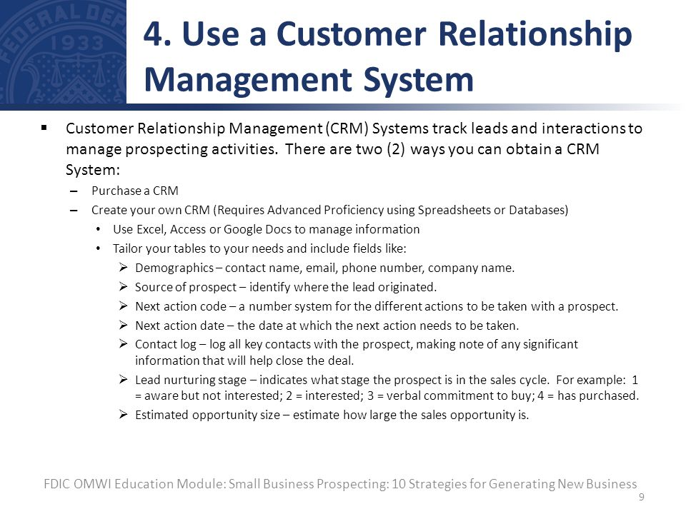 use of it in customer relationship management