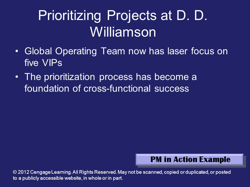 prioritizing projects at d. d. williamson essay View essay - case study 1 prioritizing projects at d  d  willliamson from human  reso 602 at limestone college 1 prioritizing projects at d d williamson.
