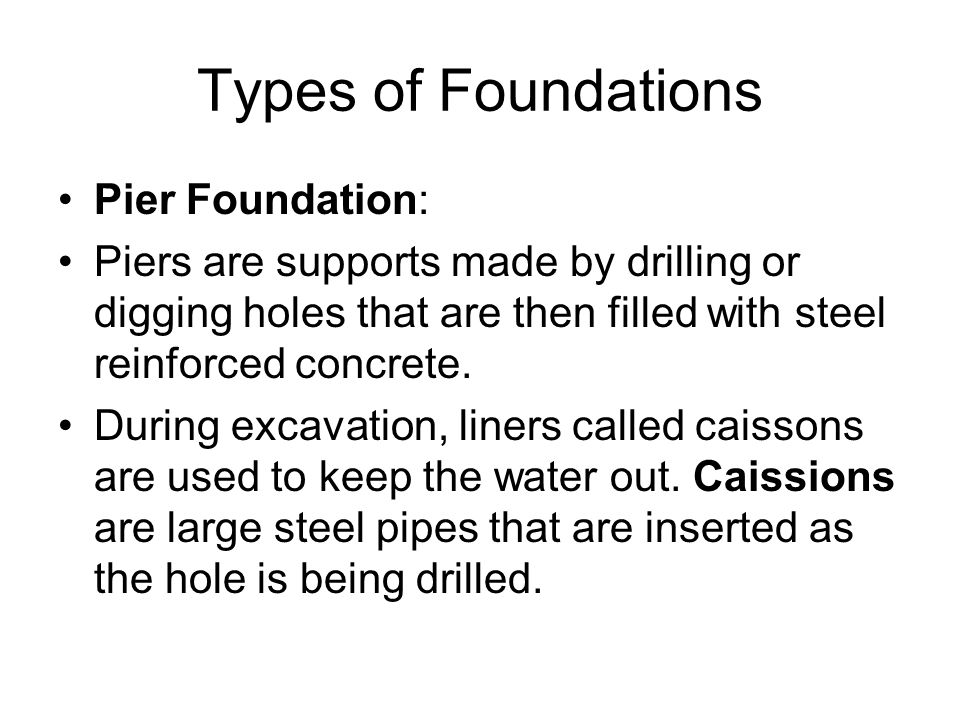 Chapter 18 foundations ppt video online download for Types of foundation and their uses