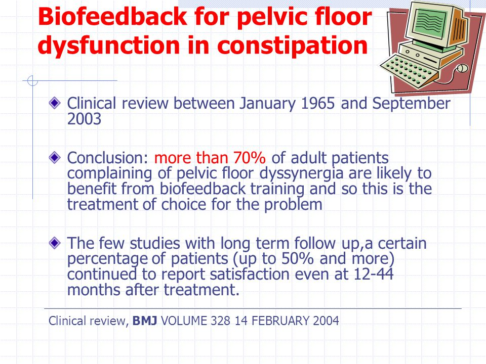 Biofeedback For Pelvic Floor Dysfunction In Constipation