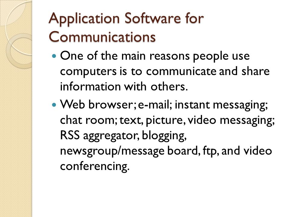 Instant Messages With Others : Application software ppt video online download