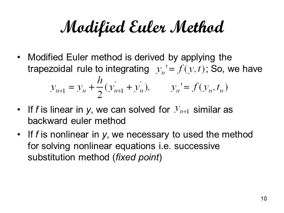 backward euler method