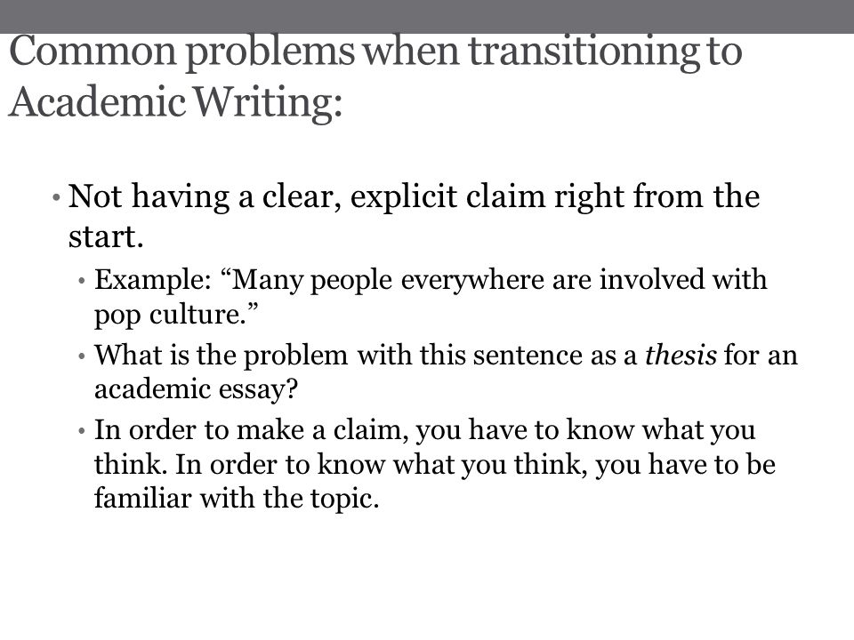 common problems in essay writing