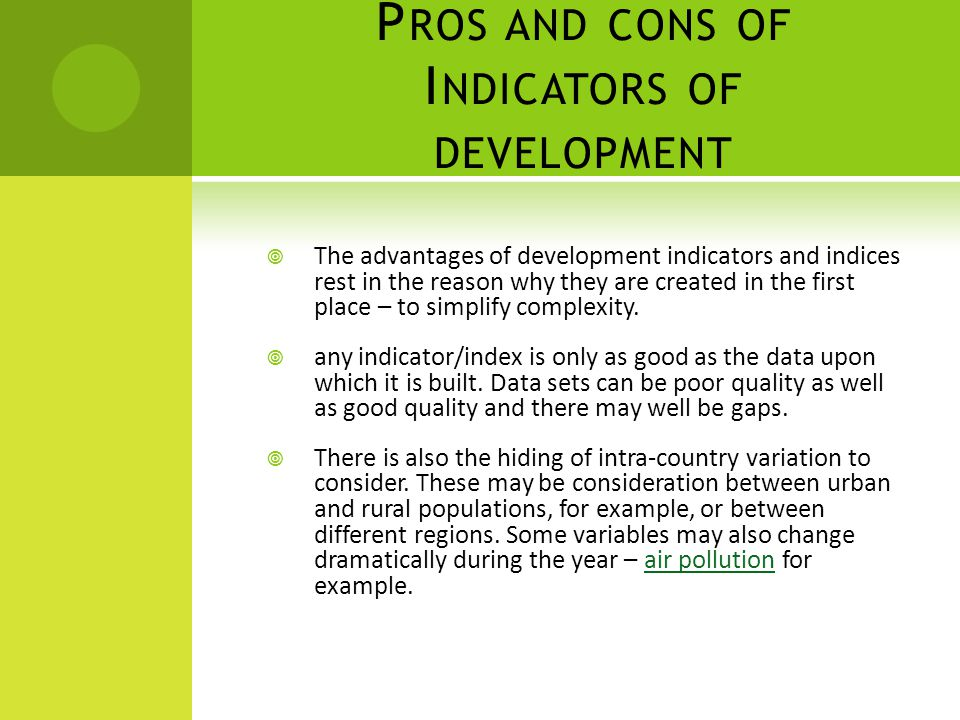 pros and cons of urbanization City development strategies (cds) and sustainable urbanization in developing   function models: pros and cons for sustainable development indices design.